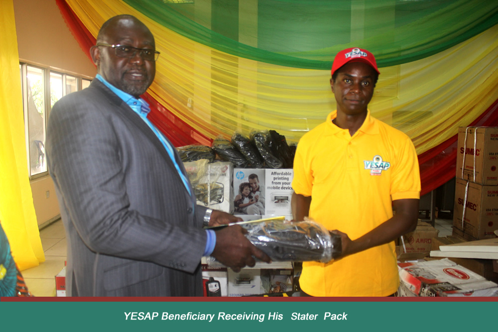 YESAP Beneficiary Receiving His Starter Pack
